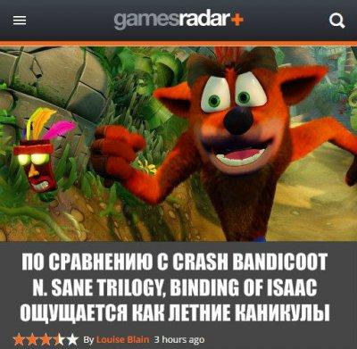 Crash Bandicoot N.Sane trilogy. Рецензия